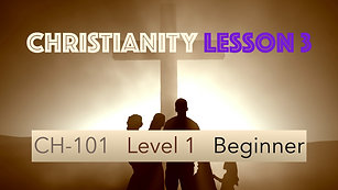 CH-101, Lesson 3, Righteousness by Grace
