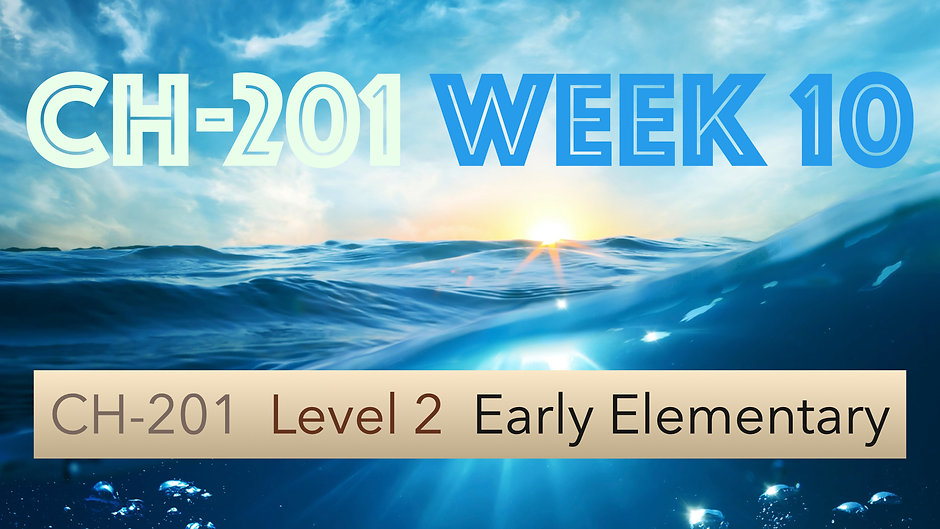 CH-201, Week 10, Lessons 37-40