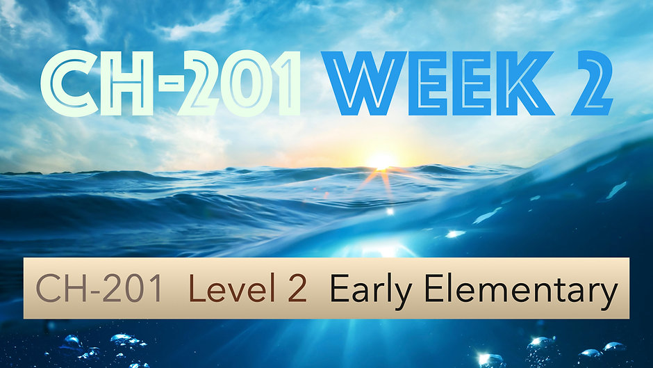 CH-201, Week 2, Lessons 5-8