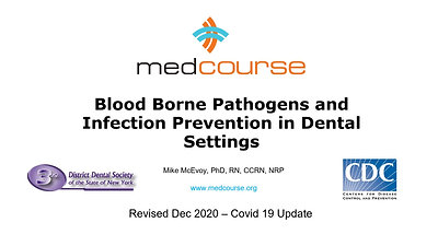 Infection Control for the Dental Profession