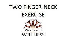 Two Finger Neck Exercise