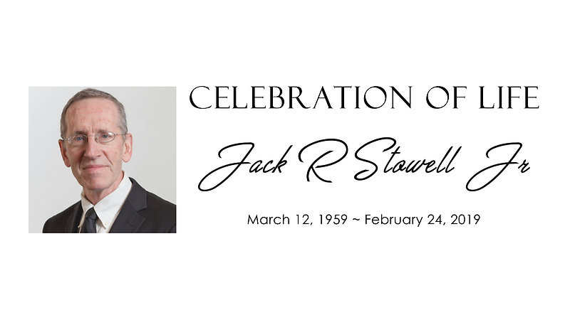 Jack Stowell Celebration of Life Presentation