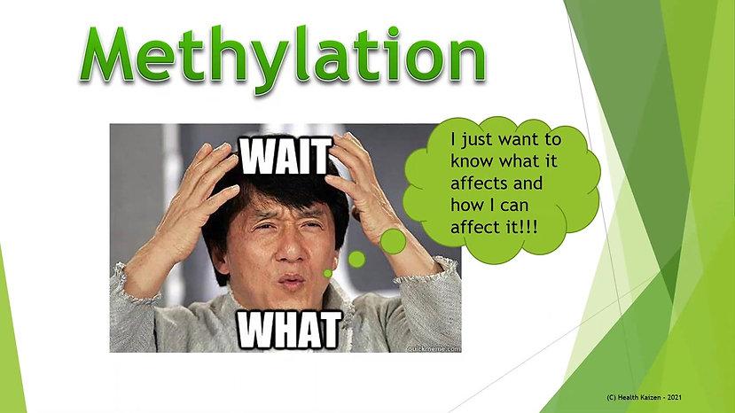 Methylation Part 1 - March 27, 2021