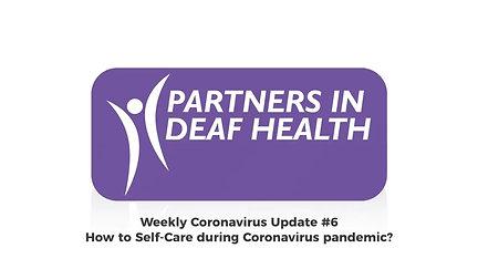 Self-Care during Coronavirus pandemic