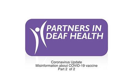Coronavirus Update: Misinformation about COVID-19 Vaccine Part 2 of 2