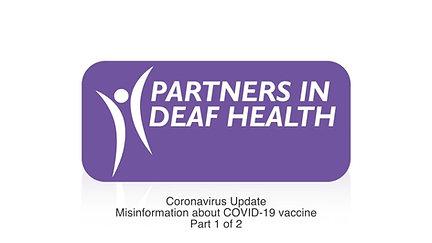 Coronavirus Update: Misinformation about COVID-19 Vaccine Part 1 of 2