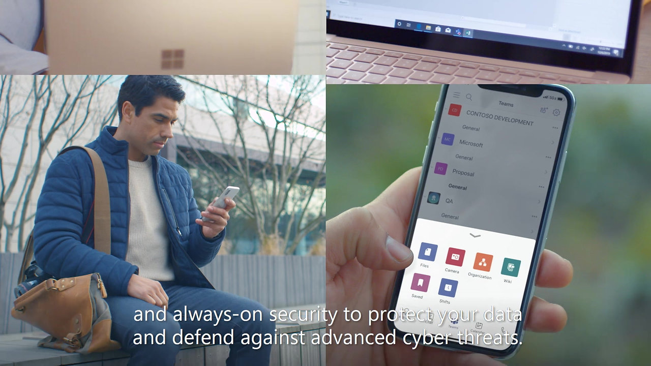 Collaboration, mobility and security features of Microsoft 365