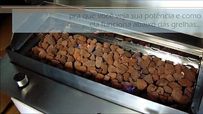 churrasqueira à gás modelo cooktop ligada