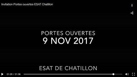 Invitation Portes ouvertes ESAT Chatillon