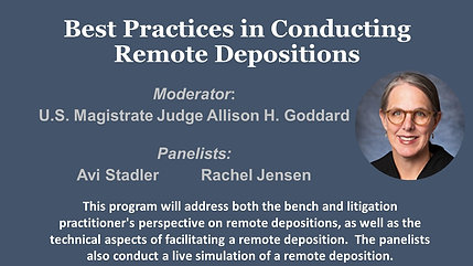 Conducting Remote Depositions