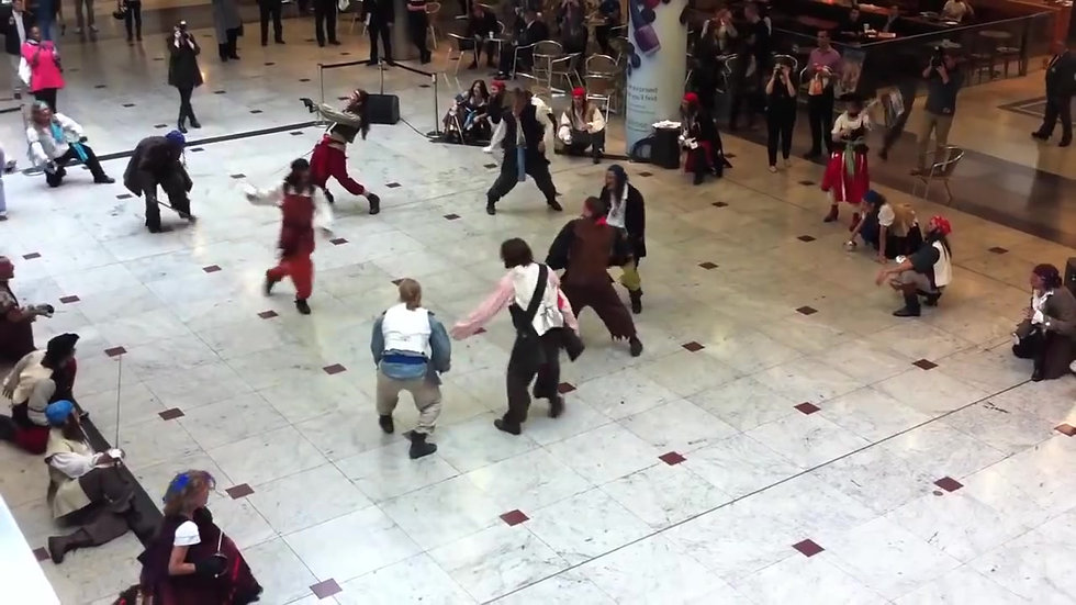 Pirate Flashmob Canary Wharf