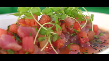 Mojitos Tuna Watermellon Cerviche