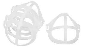 Face Mask Bracket Accessory   Breath Easier, Speak Easier?