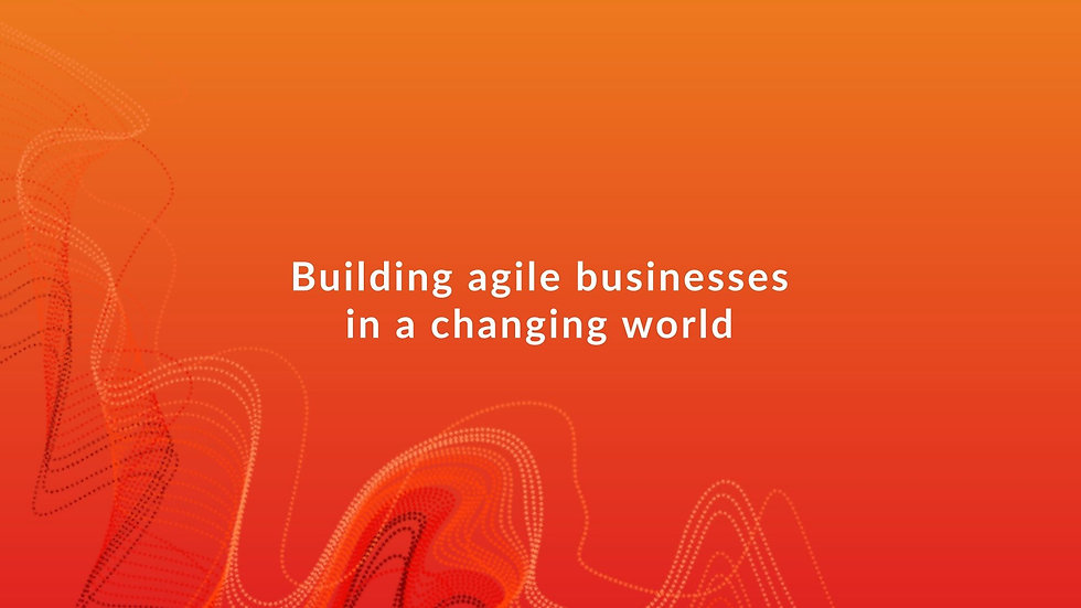 Tech Be Quick BT Report  - Building Agile Businesses