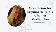 Meditation for Beginners with Dr. Norma KreigPart 2 Chakra Meditation