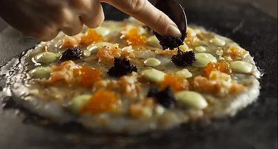 טיב טעם  - קרפצ׳יו שרימפס עם טוביקו
