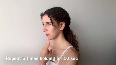 Postural alignment, neck retractions