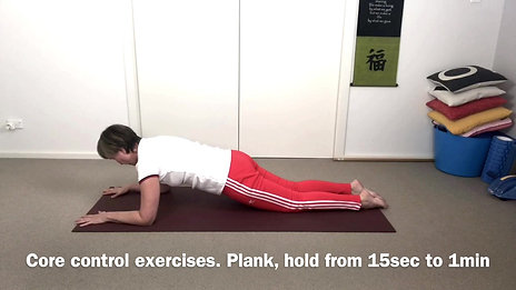 Core controle exer, plank