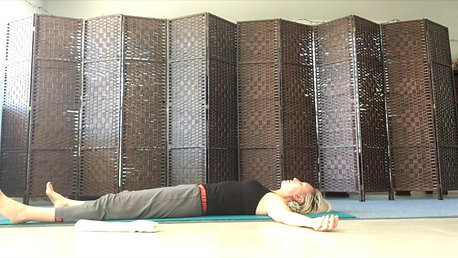 Restorative pose, align your spine, release tension.