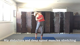Align your shoulders and stretch hip abductors