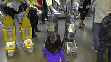 Video 3 Robots & Kids Meet Eagles Hockey Game  1.27.17