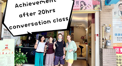 Achievement of 20 hrs Conversation Class