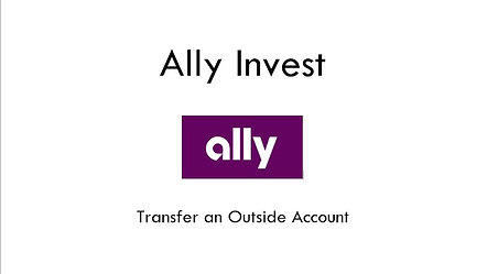 Ally Invest Transfer An Account