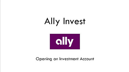 Ally Invest Open An Account