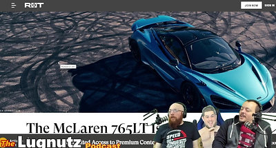 #199 Lugnutz Podcast: Cyberpunk Lancia McLaren Copy Machine Podcast