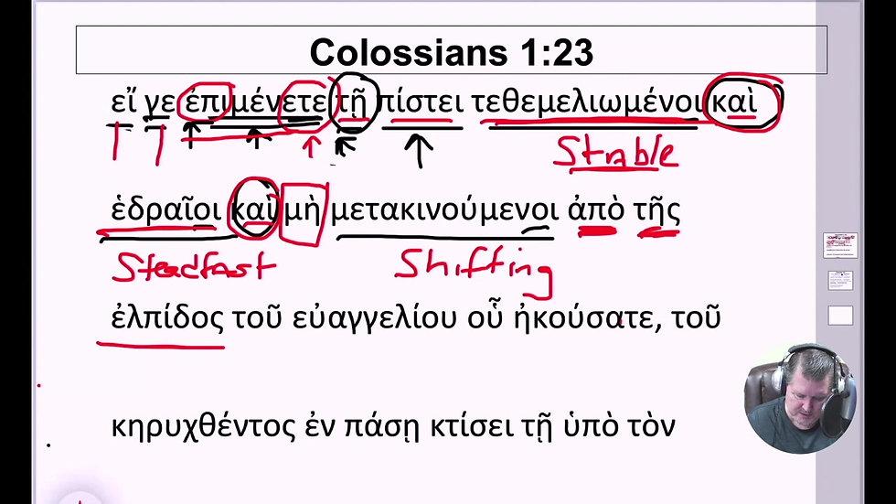 7. Colossians 1:23