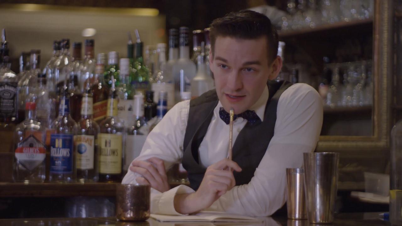 A Bartender Prepares