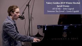 Jared Owens - Valery Goldes 2019 Winter Recital