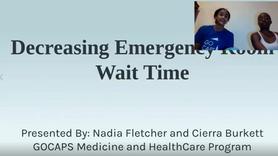 Decreasing Emergency Room Wait Time