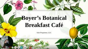 Boyer's Botanical Breakfast Café