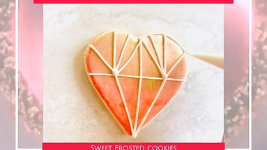 Geometric Heart Decorated Cookie