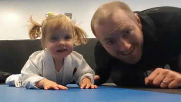 Ryan O'Shea from Straford BJJ shows some basic Brazilian Jiu-Jitsu drills, with his 18 month old