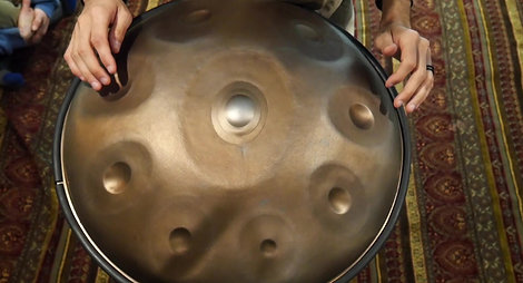 Early Tacta Handpan Prototype: Before and After Damage