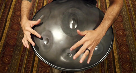 Frog Lube on a Handpan: Before and After