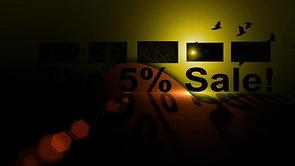 The 5% Sale! Advertisement