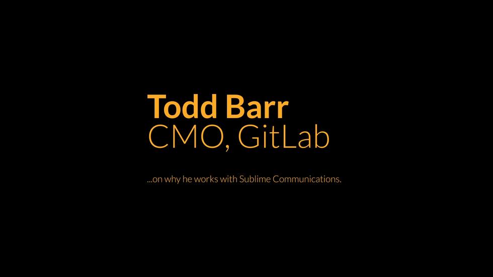 Todd Barr Testimonial