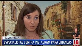 Jornal das 8 reportagem as redes sociais e as crianças