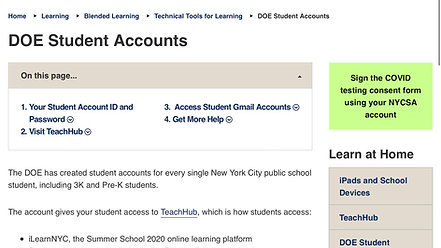 Student DOE Email Accounts