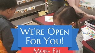 We're Open for You