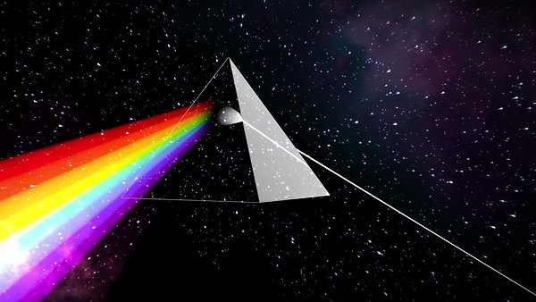 The Dark Side of the Moon Hologram for 'Pink Floyd_ Their Mortal Remains' at the V&A