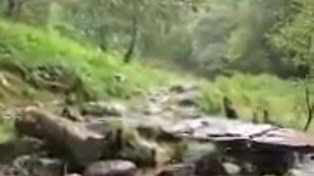 Merlin's waterfall