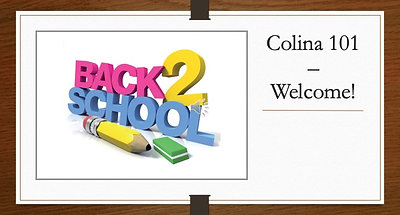Colina 101 – Welcome!