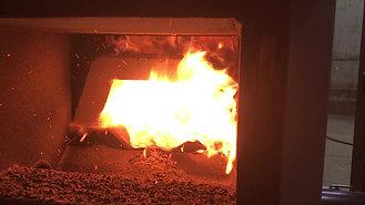 Granpal Eco - spalanie peletu drzewnego - wood pellets burning