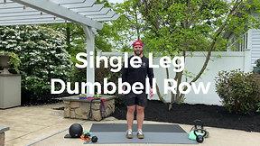 Single Leg Dumbbell Row