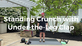 Standing Crunch with Under-the-Leg Clap