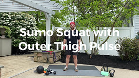 Sumo Squat with Outer Thigh Pulse